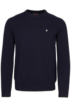 Lambswool O-neck - Marine