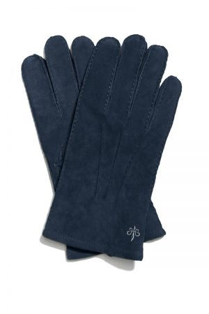 Suede Gloves – Blå