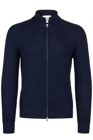 Knitted Zip Jacket – Marine
