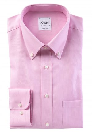 Button Down Slim skjorte – Rosa