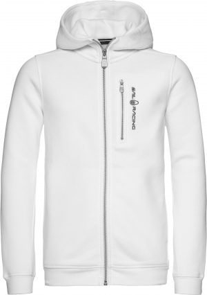 Race Zip Hood – Hvit