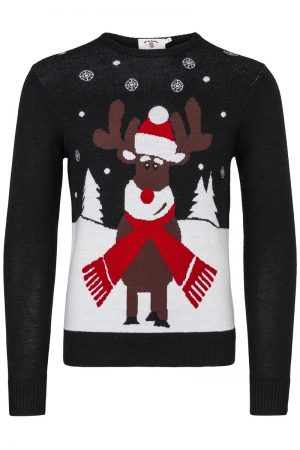 Christmas Reindeer Sweater – Marine