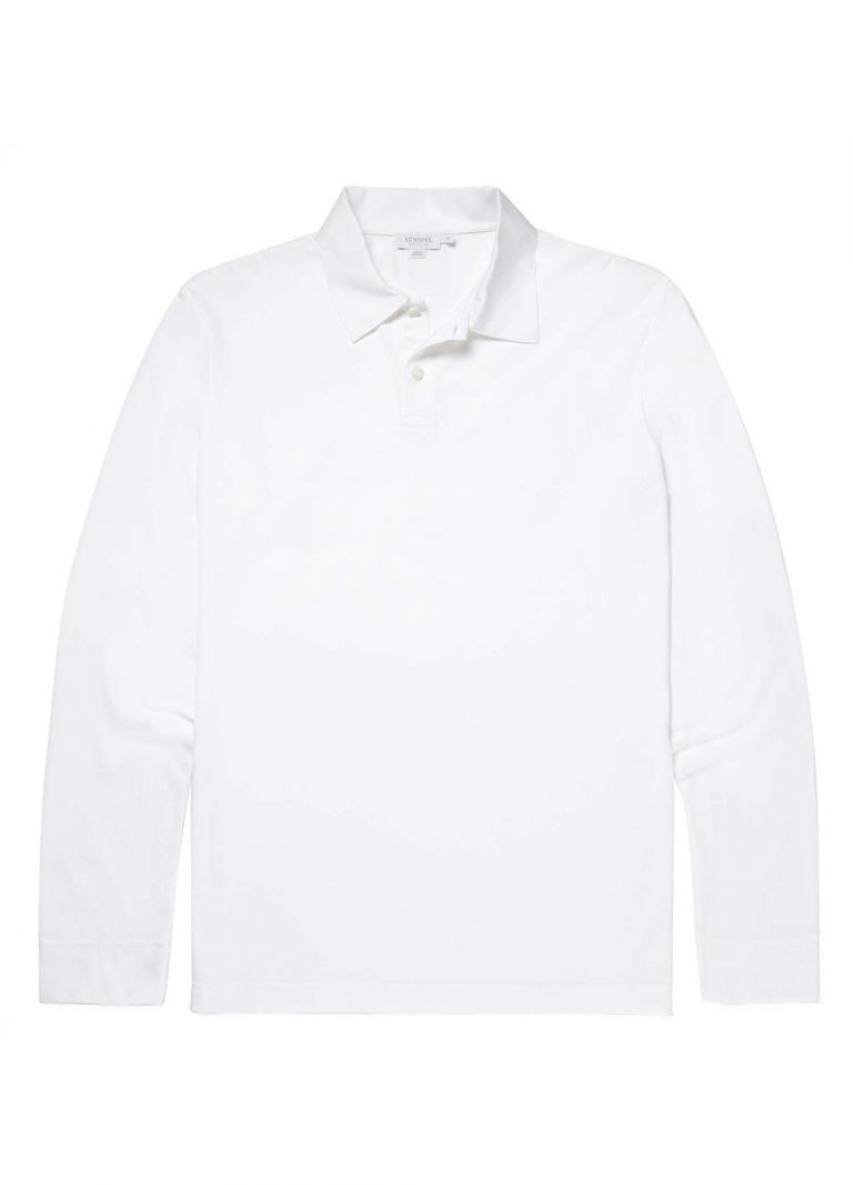 Long Sleeve Polo – Hvit