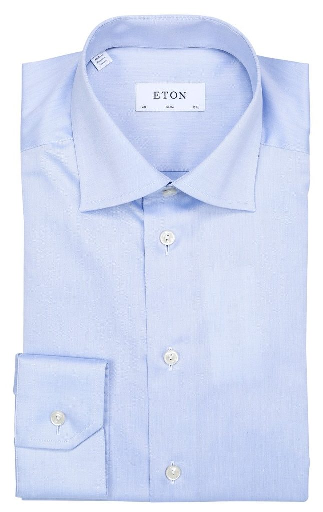 Slim skjorte standard – Lyseblå