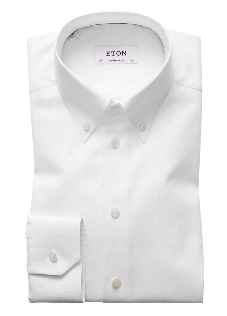 Contemp Button Down skjorte – Hvit