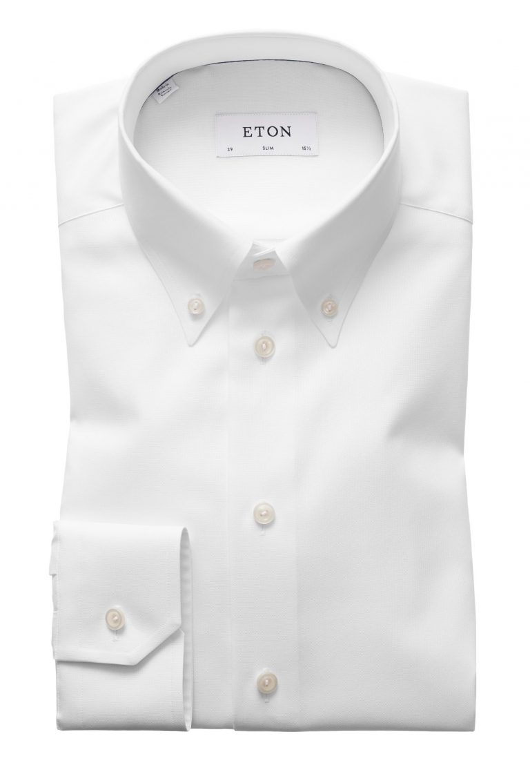 Button Down Slim skjorte – Hvit