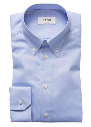 Contemp Button Down skjorte – Lyseblå