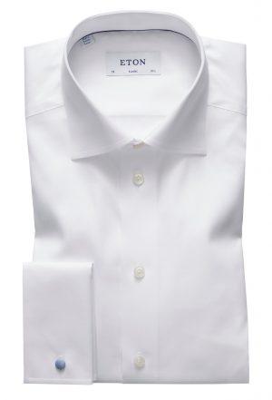 Classic fit skjorte dobbel mansjett – Hvit