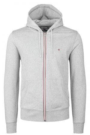 Core Cotton Zip Hood – Grå