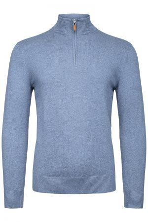 Finest Half-zip genser – Blå
