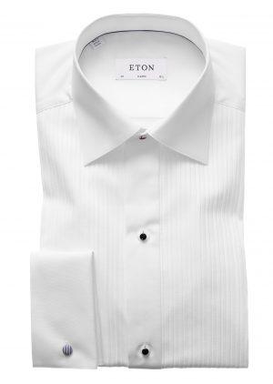 Classic Plissé Smokingskjorte – Hvit
