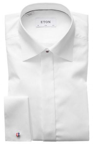 Slim Smoking skjorte – Hvit