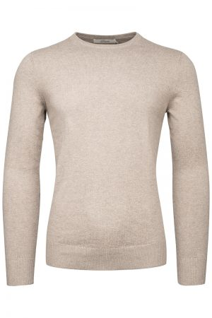 Cotton Cash C Neck genser – Beige
