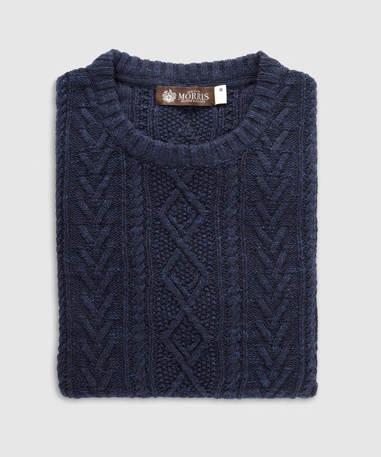 Heritage Knit genser – Blå