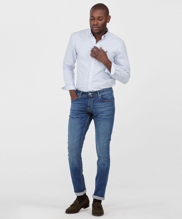 Steve Satin Jeans – Lyseblå