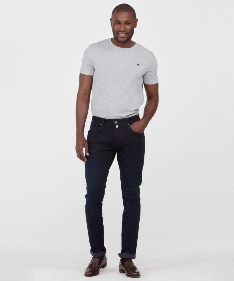 Steve Satin Jeans – Mørkeblå