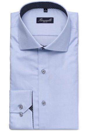 Slim fit skjorte – Lyseblå kontrast