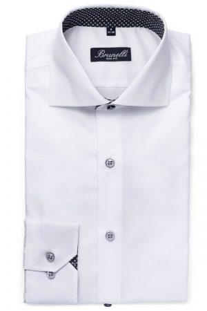 Slim fit skjorte – Hvit kontrast