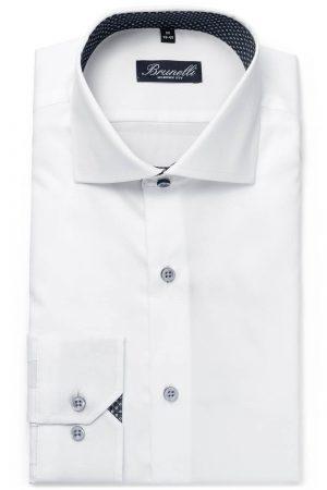 Modern fit skjorte – Hvit kontrast
