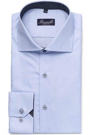 Modern fit skjorte – Lyseblå kontrast