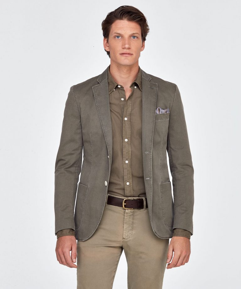 Brighton Washed Blazer – Khaki