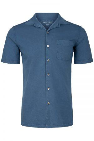 Camicia Piquet – Blå