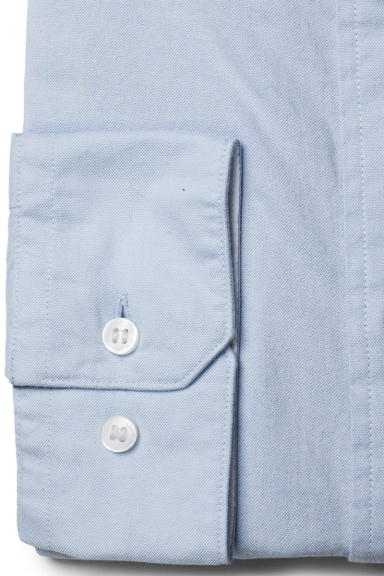 Button Down Washed Skjorte – Lyseblå