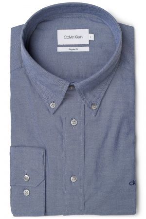 Button Down Washed Skjorte – Blå