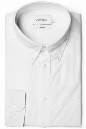 Button Down Washed Skjorte – Hvit