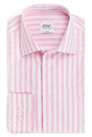Slim fit skjorte – Rosa striper