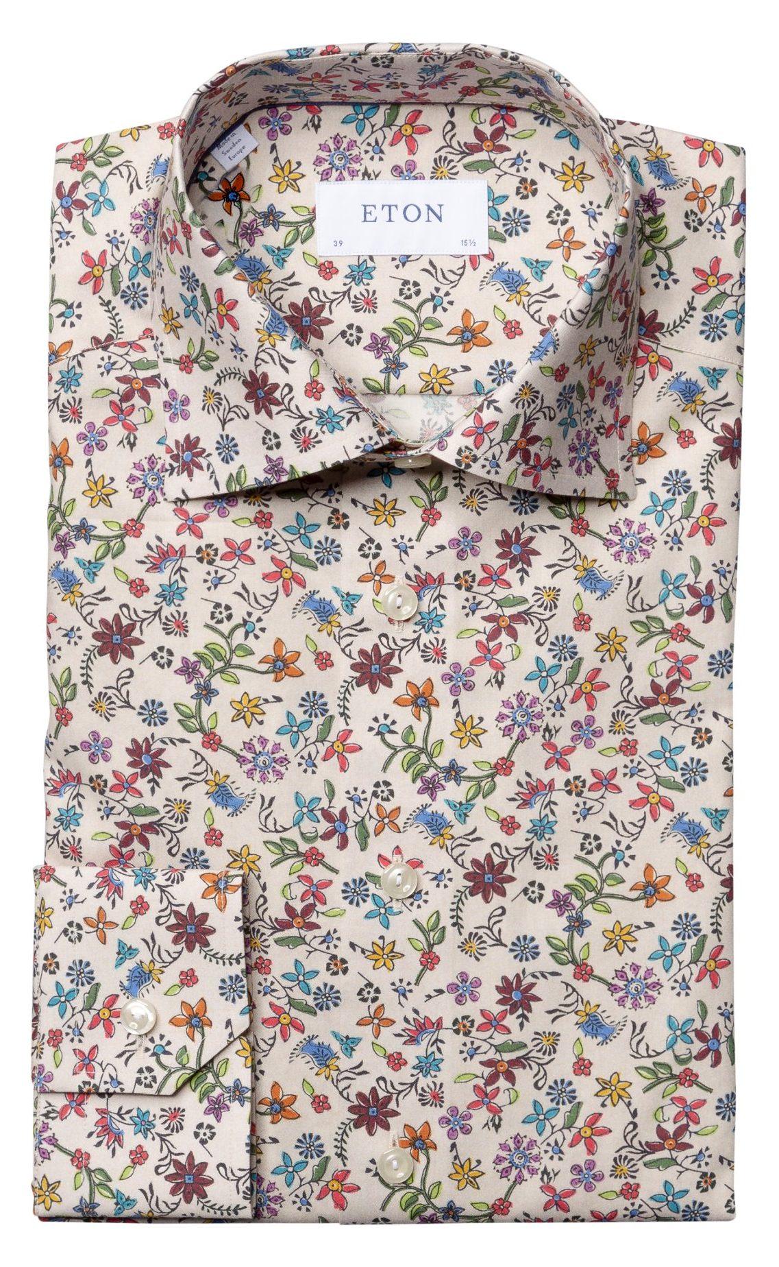 skjorte blomster herre